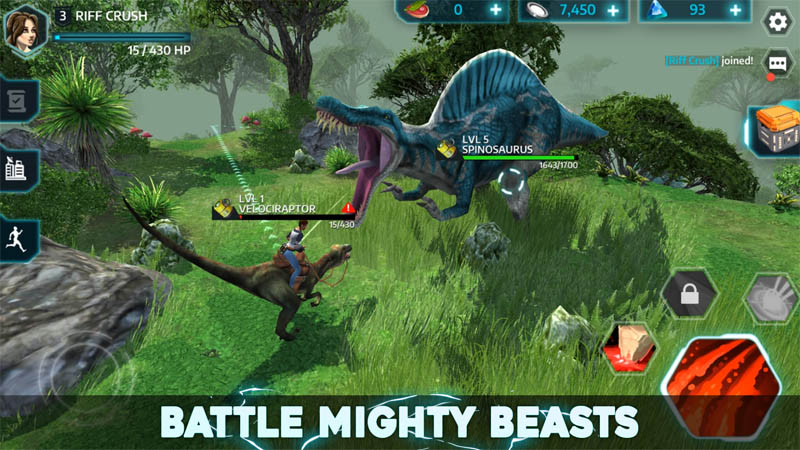 Dino Tamers Battle Mighty Beasts