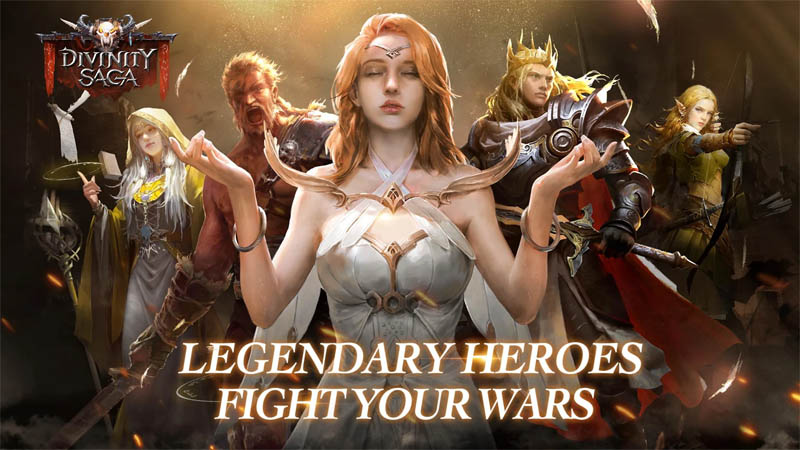 Divinity Saga - Legendary Heroes Fight Your Wars
