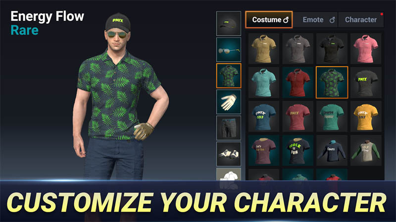 Golf King World Tour - Customize Your Character