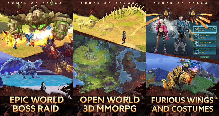 Runes of Dragon - Open World 3D MMORPG Epic World Boss Raid Furious Wings and Costumes