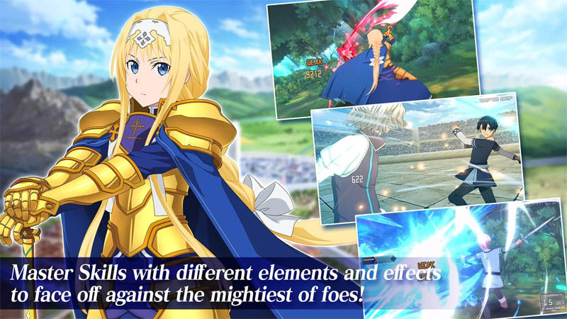 Sword Art Online Alicization Rising Steel - Master Skills with different elements