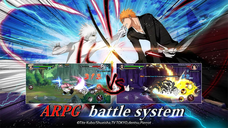 BLEACH Soul Bankai - ARPG battle system