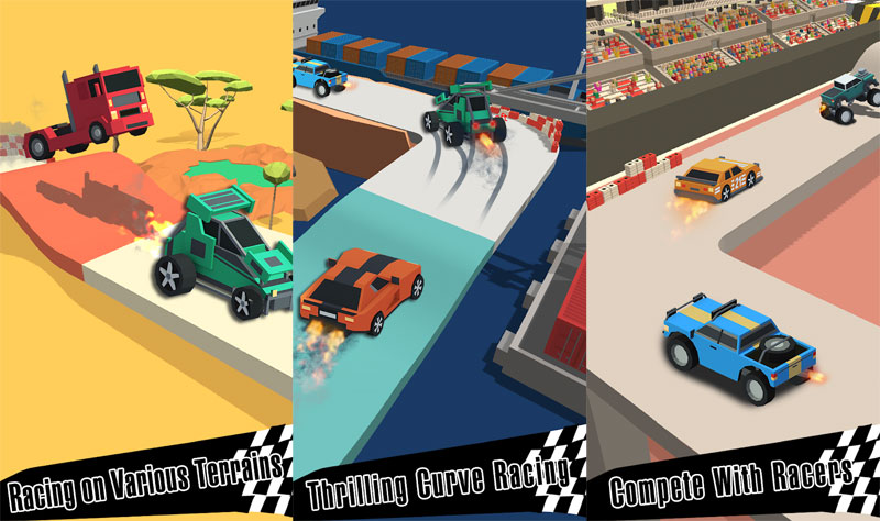 Drift Race 3D - Racing on various terrains thrilling curve racing compete with racers