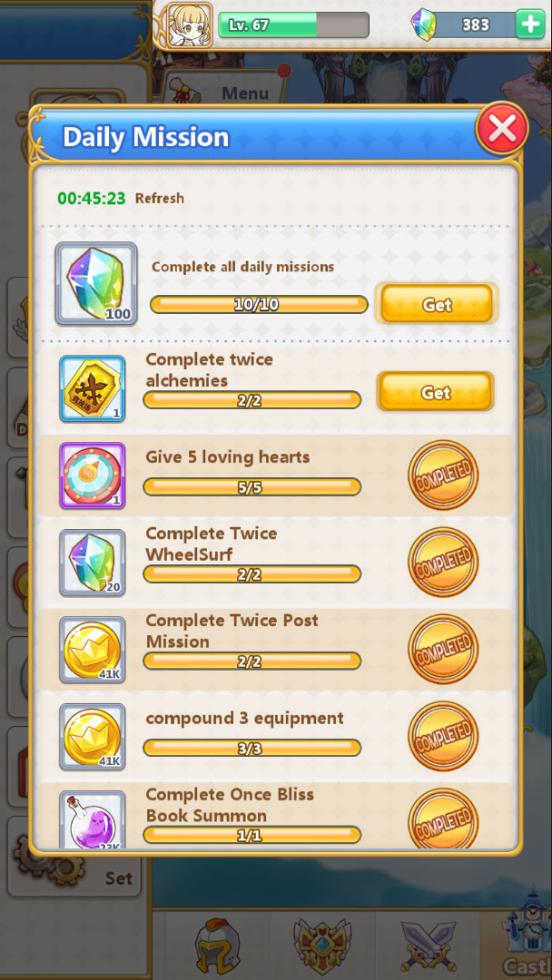 Summon Princess - Daily Mission