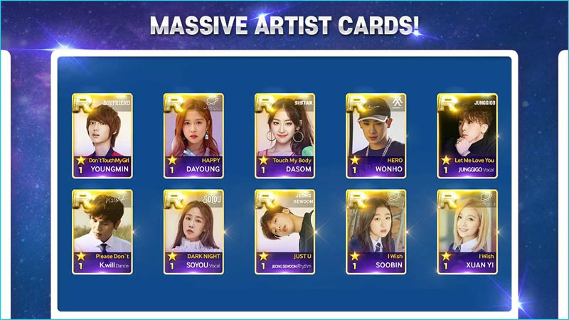 SuperStar STARSHIP - Massive Artist Cards