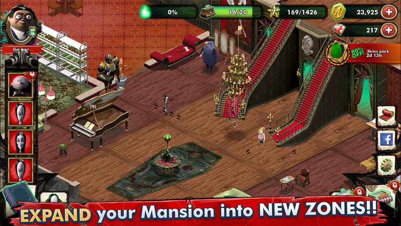 The Addams Family - Mystery Mansion - EXPAND your Mansion into NEW ZONES