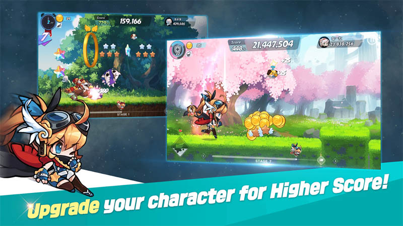 WIND runner - Upgrade your character for Higher Score