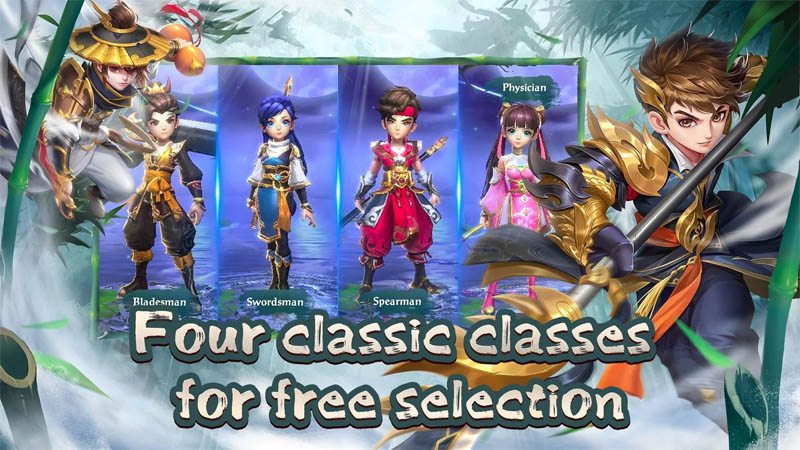 Yong Heroes - Four classic classes for free selection