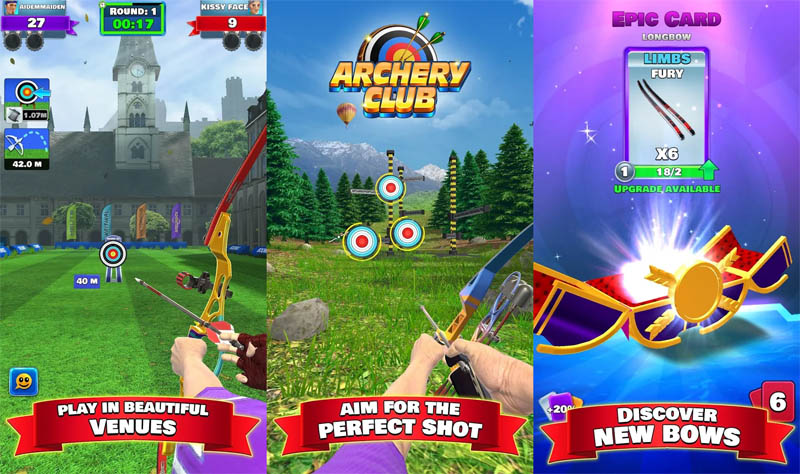 Archery Club - Play in beautiful Venues Aim for the perfect shot Discover new bows