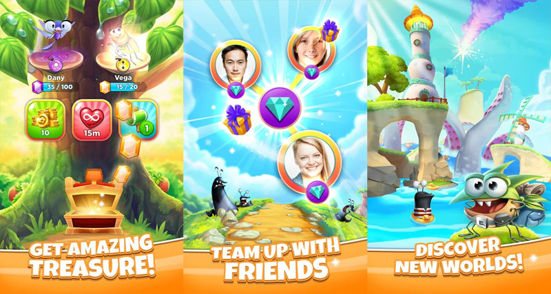Best Fiends Stars - Get Amazing Treasure Team Up With Friends Discover New Worlds