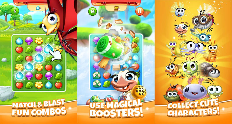 Best Fiends Stars - Match Blast Fun Combos Use Magical Boosters Collect Cute Characters