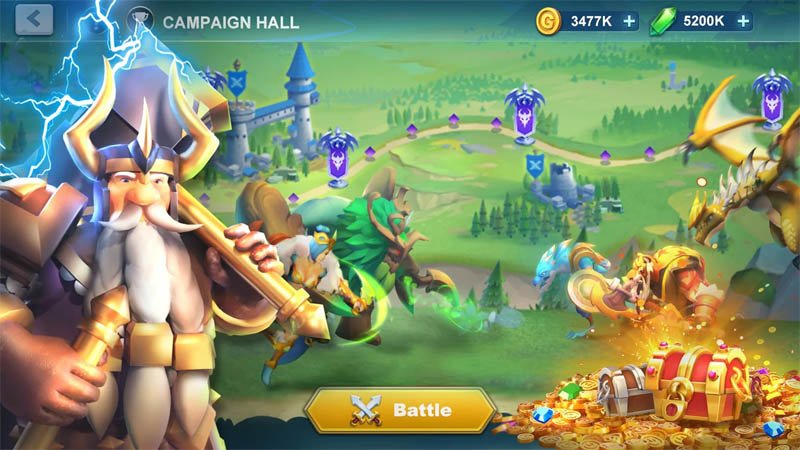Idle War Legendary Heroes - Campaign Hall