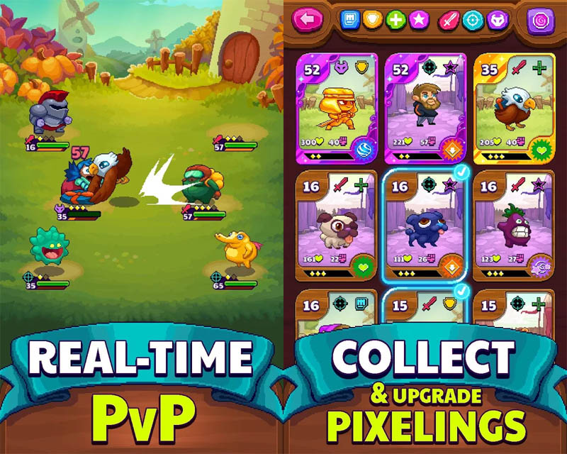 PewDiePie Pixelings - Real Time PVP Collect Upgrade Pixelings
