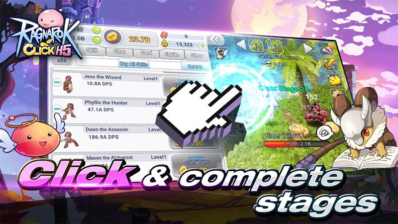 Ragnarok Click H5 - Click and complete stages