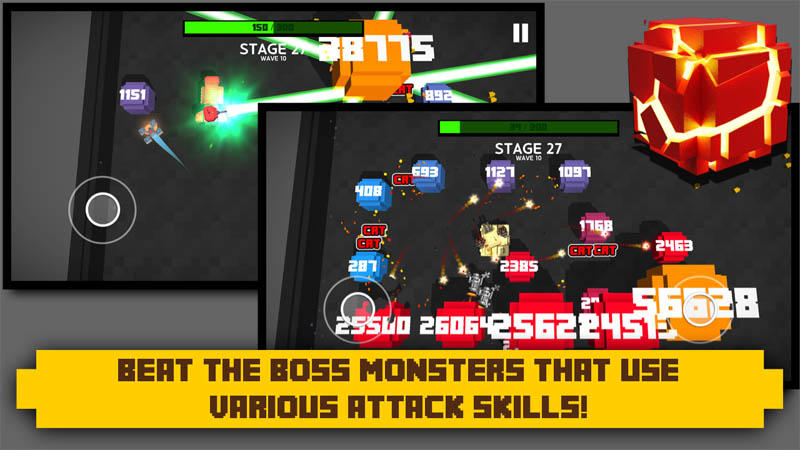 Tank Block Blast - Beat The Boss Monsters That Use Various Attack Skills