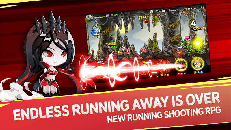 Valkyria Shooter - Endless Running Away is Over New Running Shooting RPG