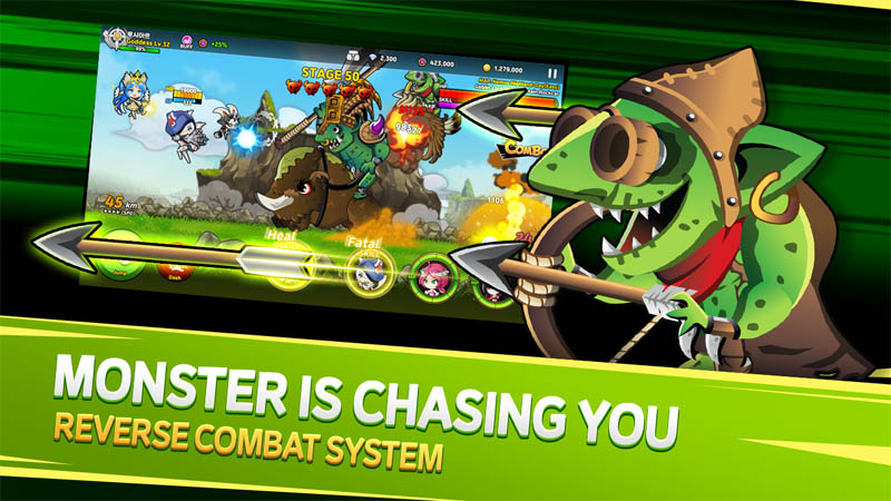 Valkyria Shooter - Monster Is Chasing You Reverse Combat System