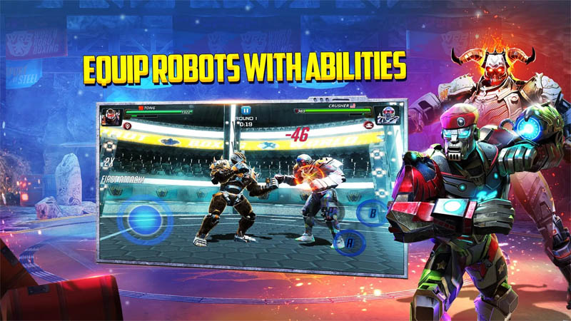 World Robot Boxing 2 - Equip Robots With Abilities