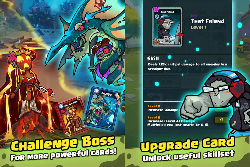 Zombie Friends Idle - Challenge Boss Upgrade Card