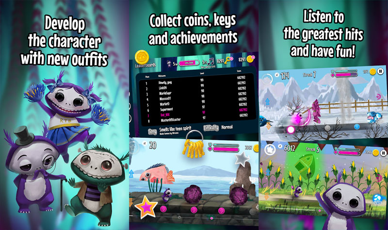 Run The Beat - Develop character with new outfits collect coins listen to greatest hits