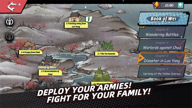 Tactical Three Kingdoms - Deploy Your Armies Fight For Your Family