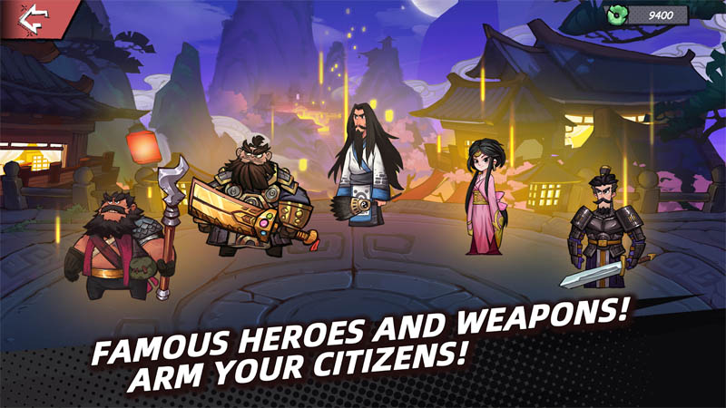 Tactical Three Kingdoms - Famous Heroes And Weapons Arm Your Citizens