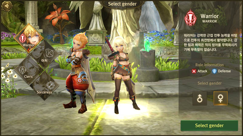 World of Dragon Nest - Character Gender