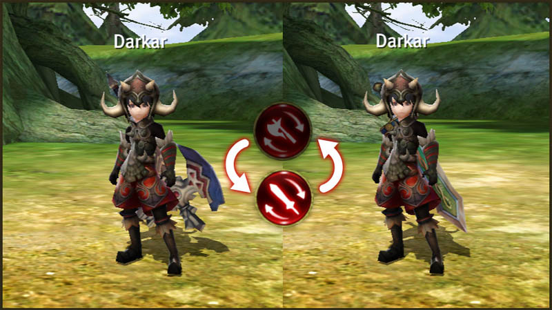 World of Dragon Nest - Fitur Swap Weapon