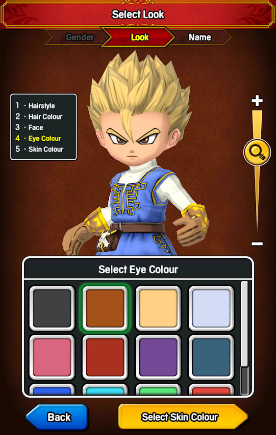 DRAGON QUEST OF THE STARS - Select Look