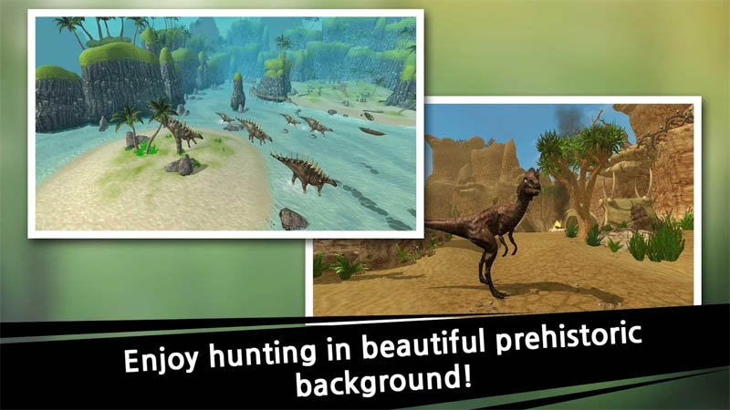 Dino Hunter King - Enjoy hunting in beautiful prehistoric background