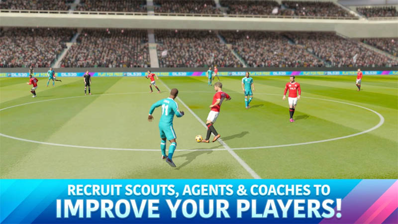 Dream League Soccer 2020 - Recruits Scouts Agents and Coaches to Improve Your Players
