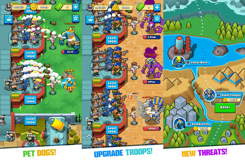 Idle Monster Tycoon - Pet Dogs Upgrade Troops New Threats