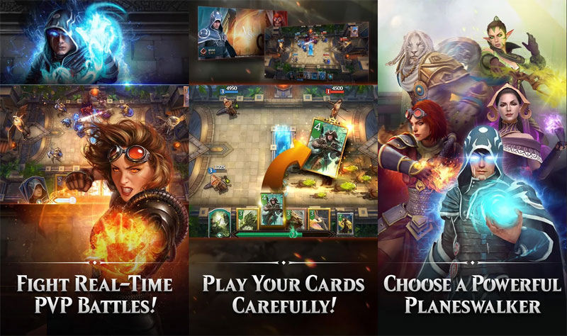 Magic ManaStrike - Fight Real Time PVP Battles Play Your Cards Choose Planeswalker