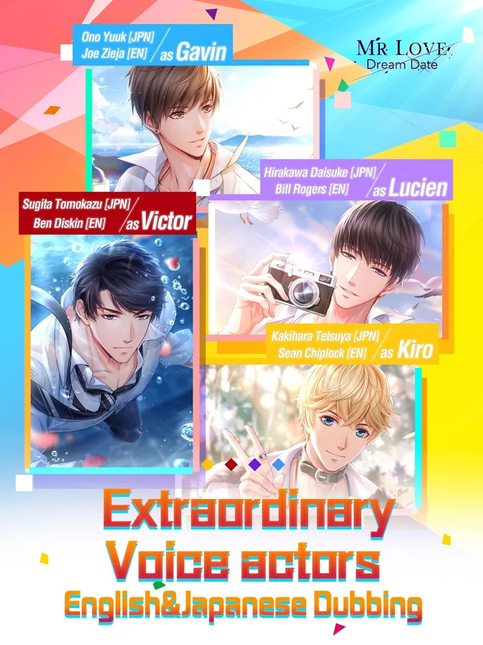 Mr Love Dream Date - Extraordinary Voice actors English and Japanese Dubbing