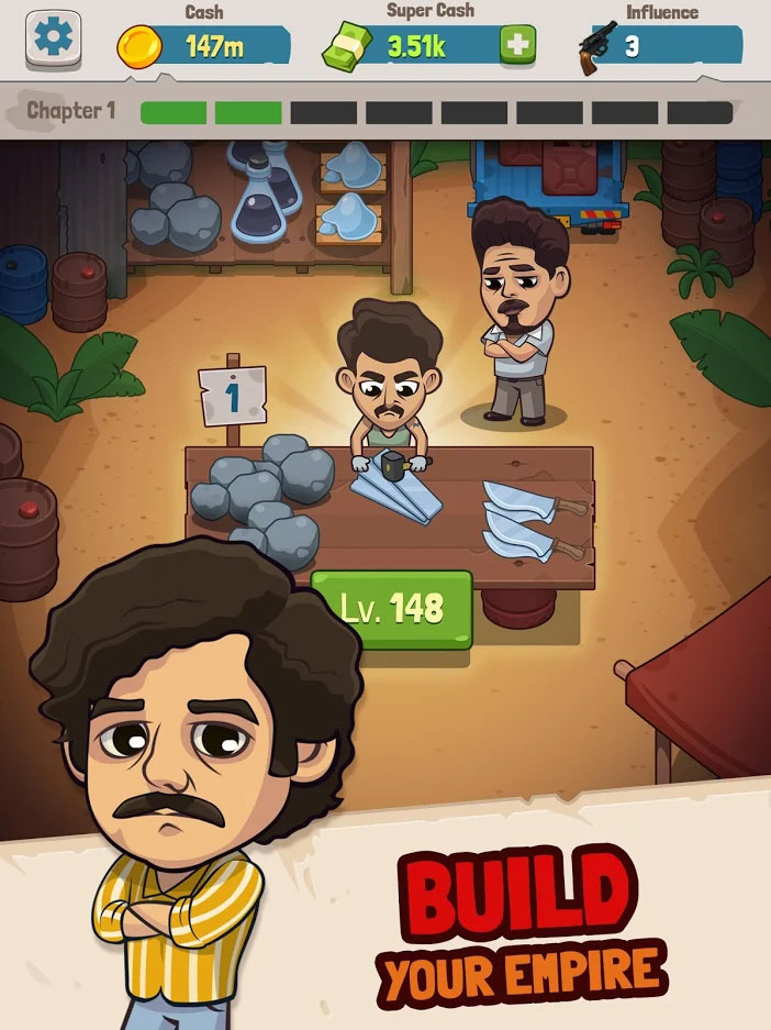Narcos Idle Cartel - Build Your Empire
