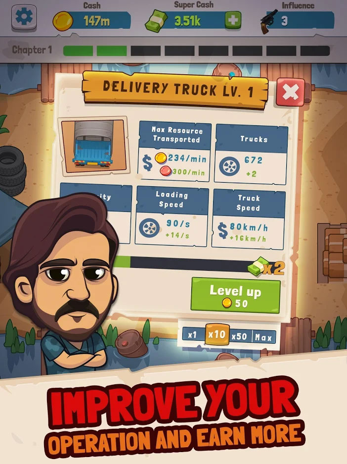 Narcos Idle Cartel - Improve Your Operation and Earn More