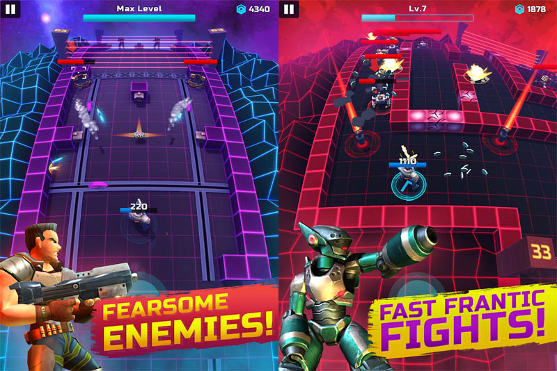 Neon Soldier - Fearsome Enemies Fast Frantic Fights