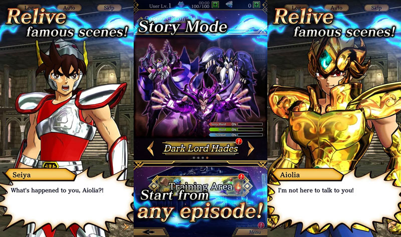 SAINT SEIYA SHINING SOLDIERS -  Story Mode Relive famous scenes