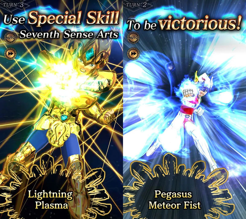 SAINT SEIYA SHINING SOLDIERS -  Use Special Skill To be Victorious