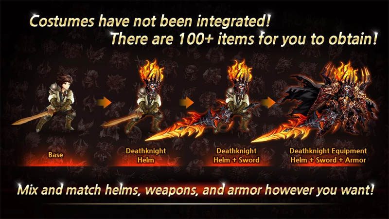 Training Hero Always focus on training - Mix and match helms weapons and armor