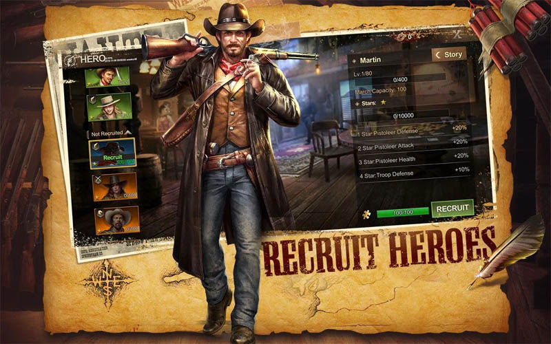 Wild Frontier - Recruit Heroes