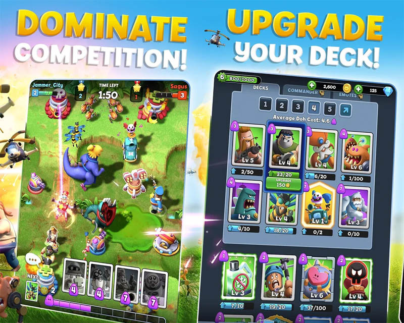 World War Doh - Dominate competition Upgrade your deck