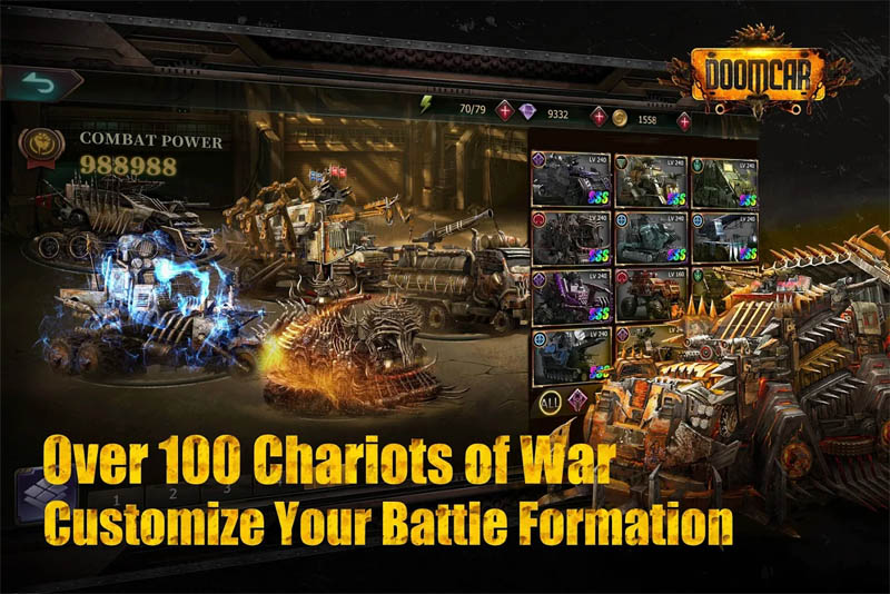 DoomCar - Over 100 Chariots of War Customize Your Battle Formation