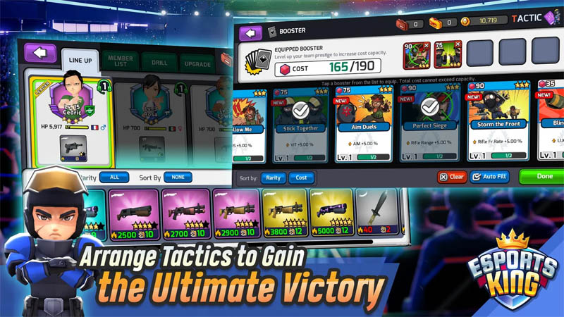 Esports King - Arrange Tactics to Gain the Ultimate Victory