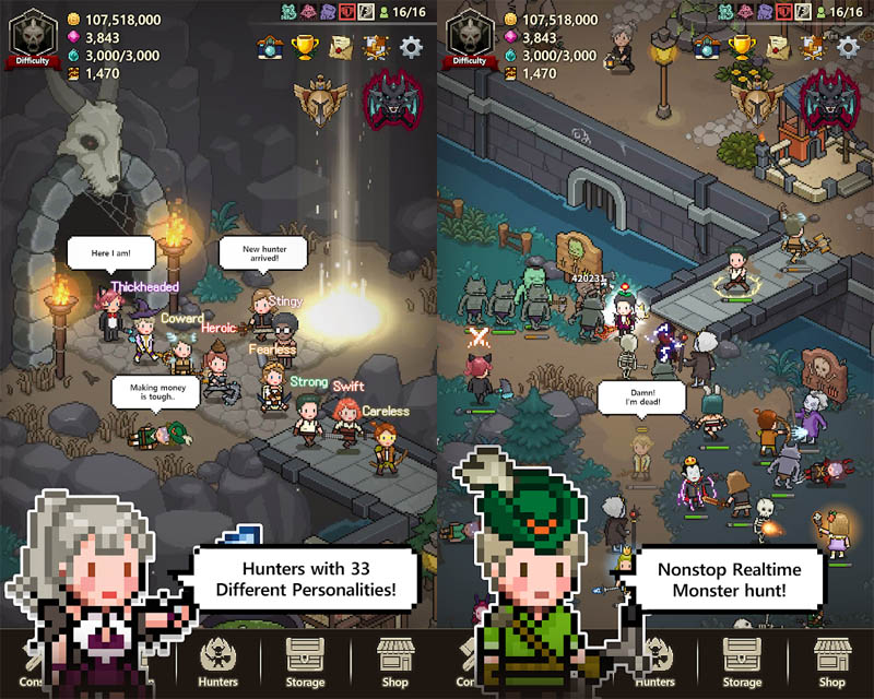 Evil Hunter Tycoon - 33 Different Hunter Personalities Nonstop Realtime Monster Hunt