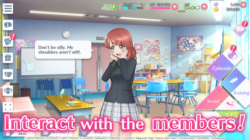 Love Live All Stars - Interact with the members