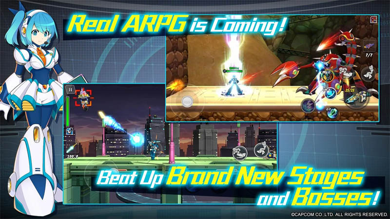 MEGA MAN X DiVE - Real ARPG is coming Beat Up Brand New Stages and Bosses