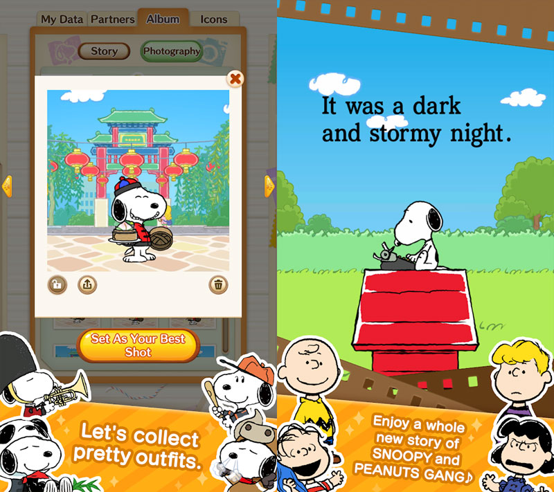 SNOOPY Puzzle Journey - Collect pretty outfits Enjoy story of SNOOPY and PEANUTS GANG
