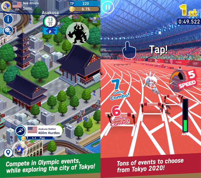 SONIC AT THE OLYMPIC GAMES TOKYO2020 - Compete in tons of  Olympic Events in Tokyo