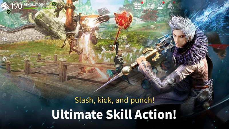 Blade and Soul REVOLUTION - Slash kick and punch Ultimate Skill Action